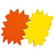 Labels in cardboard crenated yellow/orange 120 x 80 mm Apli - box of 50