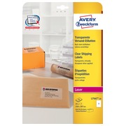 Avery L7567-25 étiquettes d'expédition ft 210 x 297 mm (b x h), 25 étiquettes, transparent