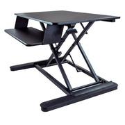 StarTech.com Sitz/ -Steh Schreibtisch Konverter - Große 89cm Arbeitsfläche - Verstellbarer Stehschreibtisch - 2x 24 oder 1x 30 Monitor - stehender Tischwandler
