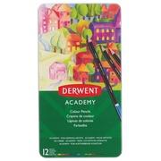 Derwent kleurpotlood Academy , blik van 12 stuks in geassorteerde kleuren