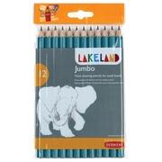 Lakeland grafietpotlood Jumbo HB, pak van 12 stuks