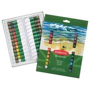 Derwent peinture à l'eau Academy , 12 ml, blister de 24 tubes en couleurs assorties