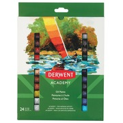Derwent olieverf Academy , 12 ml, blister van 24 tubes in geassorteerde kleuren