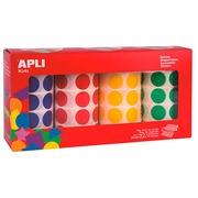 Pastille adhésive Ø 20mm Agipa 7080U couleurs assorties - Boîte de 7080