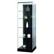 Column-shaped display cabinet glass Mastersoft black
