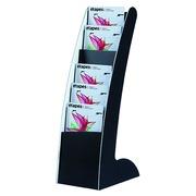 Présentoir fixe monobloc 8 cases jusqu'au format A3 Paperflow - noir/blanc