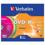 Verbatim Colours - DVD-R x 5 - 4.7 GB - Speichermedium