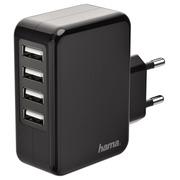 Chargeur Hama USB 4 ports 4,8A noir