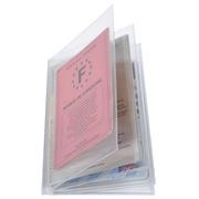 Sachet de 10 étuis de protection multi-cartes 4 volets PVC lisse 20/100e