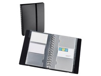 Business card holder Exacompta Exacard polypropylene 150 x 200 mm black 120 cards.