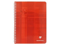 Notebook Clairefontaine 100 pg 17 x 22 cm checked 5x5 assorted colors