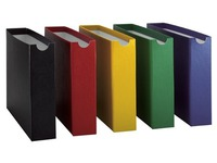 Filing box in cardboard Adine back 8 cm assorted colours