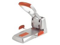 Powerful perforator 2 holes Duax Rapid - capacity 150 sheets - silver/orange