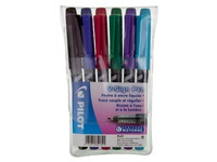 Pilot V Sign Pen, set of 6 felt tip pens, assorted colours
