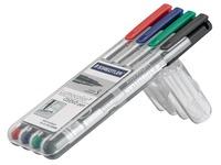 Sleeve, 4 Staedtler CD / DVD Lumocolour, felt pens, assorted