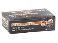 Box mit 100 kupfernen Reißzwecken