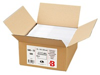 Envelope 110 x 220 mm Bruneau 80 g without window white - Box of 500