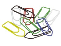 Box 100 trombones 32 mm, 4 assorted colours