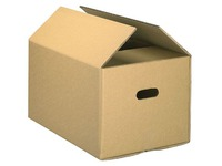 Caisse déménagement kraft brun double cannelure H 35 x L 50 x P 28 cm
