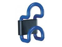Saga wall hanger, 1 coloured double hook, length 8 cm