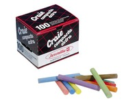 Box containing 100 pieces of colour chalk