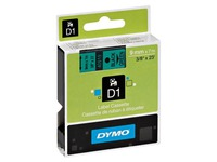 Dymo labels 9 mm black on green for Pocket/1000/2000/3500/5000/5500