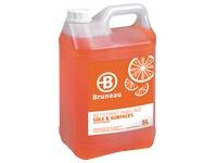 Nettoyant sols et surfaces Bruneau agrumes - Bidon de 5 litres