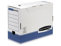 Boîte archives carton Bankers Box by Fellowes dos 15 cm bleue