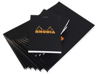 Block Rhodia black staples 80 sheets 5 x 5 n°18 size 21 x 29.7 cm