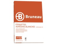 Box of 3200 address labels Bruneau white 99,1 x 33,9 mm for laser printer