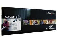 Toner Lexmark X203A11G zwart