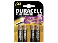 Pile Alcaline AA - LR6 Duracell Plus Power - Blister de 4