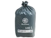 Sac poubelle gris Bruneau premium 100 litres - Colis de 200
