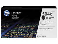 HP 504X, pack 2 toners noirs