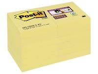 Notes jaunes Super Sticky Post-It 51 x 51 mm - Bloc de 90 feuilles