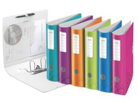 Lever arch file plastic Leitz Active 180° Wow back 7,5 cm assorted colours