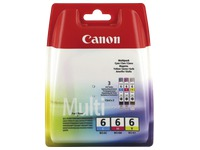 Pack cartridges Canon BCI-6 3 kleuren (C/M/Y)