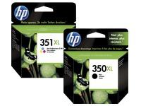Packung mit 2 Tintenpatronen HP 350XL schwarz und 351XL Farbe