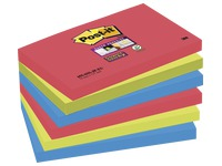 Notes colours Bora-Bora Super Sticky Post-it 76 x 127 mm - 1 block contains 90 sheets of 1 colour