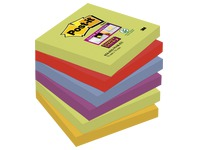 Notes colours Marrakech Super Sticky Post-it 76 x 76 mm - 1 bloc contains 90 sheets of 1 colour.