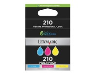Pack 3 kleurencartridges Lexmark LC210XL voor inkjetprinter