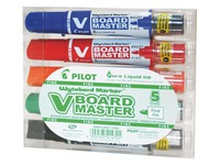 Marker erasable Pilot V-Board Master Begreen rechargeable conical tip 4.5 mm - Pack with 5 assorted colours