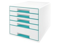 Classifying module Leitz Wow 5 drawers white - mint green