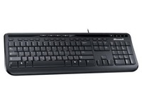 Microsoft Wired Keyboard 600 - toetsenbord - België AZERTY - zwart