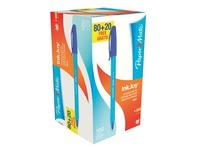 Schachtel mit 100 Kugelschreibern mit Deckselchen Papermate Inkjoy - Set von 100 wovon 20 gratis