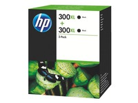 HP 300XL Pack van 2 cartridges zwart voor inkjetprinter