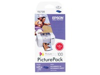 Epson PicturePack - 1 - kleur (cyaan, magenta, geel, zwart) - printcartridge / papierpakket (C13T573040)