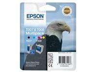 Epson Multipack T007 plus T008 - zwart, kleur (cyaan, magenta, geel, licht cyaan, licht magenta) - origineel - inktcartridge (C13T00740310)