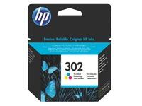 Cartridge HP 302 3 kleuren voor inkjetprinter