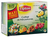 Box of 60 tea bags Lipton perfumed